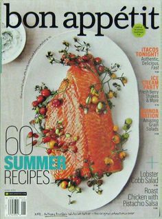 Buy any 3 of our cooking magazines and get 25% off. Bon Appetit Magazine, 60 Summer Recipes, June 2012 Vol.57 No.06