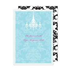 This item features a matching damask pattern on the back of the card in a corresponding color. Please refer to the main product image to see an example of the pattern. When customizing please note that up to three ink colors may be used for your personalization. This card includes white envelopes. Price $130.00