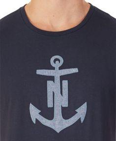 Nautica Men's Chambray Anchor-Print T-Shirt - Blue XXL
