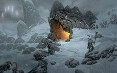 21 Ideas Digital Art Scenery Fantasy For 2019 Winter Wallpaper Hd, Wallpaper Backgrounds, Wallpaper Art, Environment Concept, Environment Design, Fantasy Places, Fantasy World, High Fantasy, Fantasy Landscape