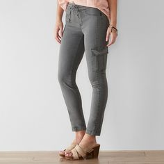 Women's SONOMA Goods for Life™ Pull-On Utility Pants, Size: 16, Grey