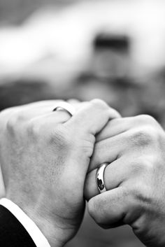 This same sex wedding in Iceland is heart warming! The clasped hands of these two grooms says a lot and we love it!