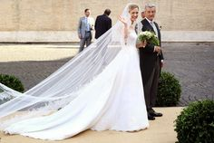 Belgian Royal Wedding..Posted on July 5, 2014 by HatQueen.......Prince Amedeo of Belgium, Archduke of Austria-Este married Elisabetta Maria Rosboch von Wolkenstein at Basilica Santa Maria in Trastevere today in Rome.......Elisabetta Maria Rosboch von Wolkenstein, July 5, 2014 in Valentino | Royal Hats