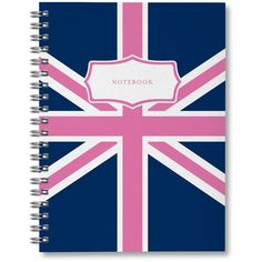 Sarah Pinto Flag Notebook (190 MXN) ❤ liked on Polyvore featuring home, home decor and stationery