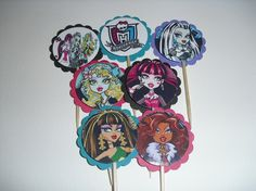 24 Monster High inspired birthday party cupcake by BudgetBirthdays