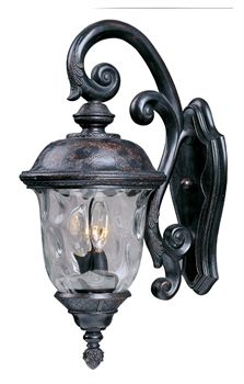 Maxim Lighting 3497WGOB Outdoor Sconce Lighting Laconia 3-Light Oriental Bronze does more than just the simplicity of its aesthetic design but also gives a spotlight to your exterior home with a traditional look. The Oriental Bronze finish of this top seller item adds to this, as colors such as this are Call 888-752-5448 and Get the Lowest Price in the Market.