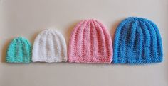 Knitted Baby Beanie Hat with Sizing marianna's lazy daisy days: Perfect Premature and Newborn Unisex Baby Hat Baby Cardigan Knitting Pattern Free, Baby Hats Knitting, Crochet Baby Hats, Baby Knitting Patterns, Charity Knitting, Crochet Patterns, Crocheted Hats, Knitting Ideas, Free Knitting