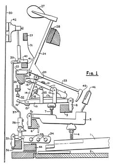 Patent EP0259060A2 - Action for upright piano #patent #patentdrawing #drawing #piano