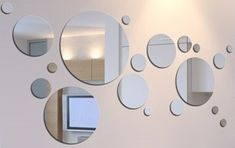 Kit 20 Espejos Redondos - Circulares / Baño, Living, Comedor