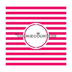 The Cookie Countess Stripes Monogram stencil ** Continue to the product at the image link.