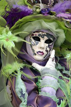 Venice carnival mask/masquerade.  Love the color mix and mask itself.