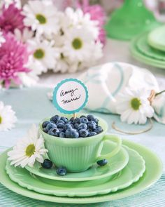 Southern Ladies, Summer Berries, Enjoy Summer, Tablescapes, Floral Arrangements, Blueberry, Entertaining, Dishes, Blossoms