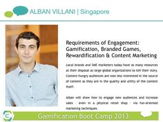 Alban Villani. Merging #gamification and content marketing at the boot camp.