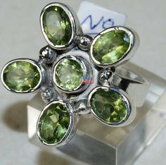 Beautiful item with Peridot Faceted Gemstone(s) set in pure 925 sterling silver.