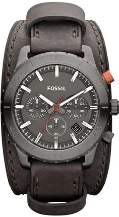 9e9b165f4b6b5 Amazon.com  FOSSIL Keaton Chronograph Leather Watch Grey  Fossil  Watches