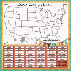 road maps games | Map/License Plate game for Road Tripping | Kids