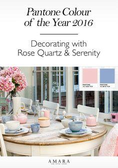The LuxPad || Pantone colour of the year, 2016, Rose Quartz, Serenity, pantone2016-pinterest