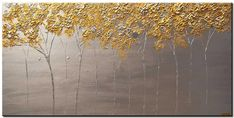 Modern landscape paintings on canvas. Golden Blossom is a hand-painted artwork, created by the artist Osnat Tzadok. An online art gallery of modern paintings - artwork id Blooming Trees, Canvas Painting Landscape, Modern Landscaping, Palette Knife, Gold Paint, Paintings For Sale, Online Art Gallery, Free Books, Fine Art