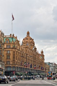 Harrods London- most famous and exclusive department store. Childrens' toy dept is excellent, as is the food hall