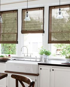 Natural Woven Waterfall Shades Custom Bamboo Blinds And Smith Le