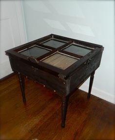 reclaimed window table