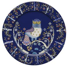 Iittala Taika Dinner Plate, Blue, with Design In Iittala launched the highly individual Taika plate by Klaus Haapaniemi, an internationally renowned illustrator. Klaus Haapaniemi has a very distinctive style of decoration, and combining this style