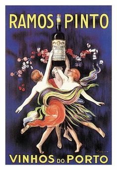 Advertising poster for Adriano Ramos Pinto and his wines and ports.