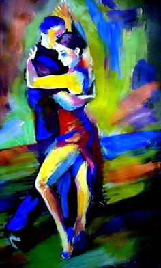 """Saatchi Online Artist: Helena Wierzbicki; Acrylic 2013 Painting """"""""Tango"""""""""""