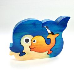 Items similar to Whale Animal Puzzle Handmade Decoration Toy Natural Sea Blue Sunshine Yellow on Etsy Woodworking Projects For Kids, Woodworking Toys, Wood Projects, Animal Puzzle, Wood Animal, Puzzle Crafts, Wood Crafts, Scroll Saw Patterns Free, Wooden Words