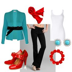 Always a bit jarring at first glance, the combo of red and turquoise never fails to grow on me.  Quickly.