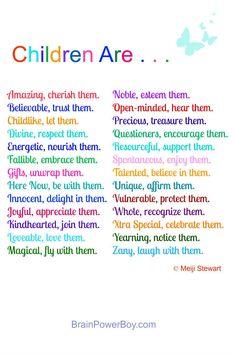 Children Are . . . Poem