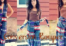 Gnar Hoops & Happy Wallet Clothing   Perfect Pick Conversion Romper --Conversion Romper Awesomeness Checklist-- Romper ✓ No-budge pants ✓ Stretchy ✓  Fleece goodness ✓ Sensational colors and designs ✓   Stretch Fleece in 5 Delicious colors and designs Soft, non-bulky elastic waistband that goes 3/4 the way around waist; not in front Easy to adjust leg length and upper tie