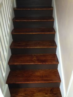 Stained Pine Stairs : Pine stairs  Kevins wood floors  Pinterest