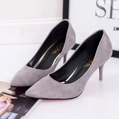 Pointed Toe Pumps Patent Leather (Size 3.5 - 11)