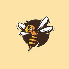 Logo to vector Convert your logo to vector Convert JPG to vector Vectorize and redraw a logo Bee Icon, Logo Bee, Honey Logo, Mascot Design, Bee Art, Bee Design, Logos, Logo Branding, Best Logo Design