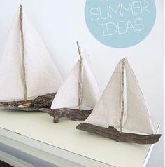 Haz tus propios objetos de decoración!!!  casa en la playa? e el sur? esta idea es genial!