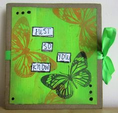 inkykitty: Springtime- March challenge at The Artistic Stampe. Mini Books, Spring Time, Mini Albums, Notebooks, Stamping, Arts And Crafts, March, Challenges, Canvas