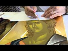 Byzantine Iconography by Daniel Neculae from 2015 in the US Religious Pictures, Religious Icons, Religious Art, Archangel Gabriel, Archangel Michael, Writing Icon, 3 4 Face, Painting Courses, Face Icon