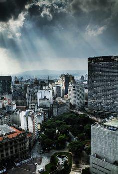 Praça do Correio em São Paulo, SP