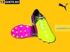 Ghetele Puma evoPOWER 1.3 FG au o talpă nouă, reconcepută pentru a îmbunătăți aderența și stabilitatea pe terenurile naturale tari. Cleats, Shoes, Fashion, Football Boots, Moda, Zapatos, Cleats Shoes, Shoes Outlet, Fashion Styles