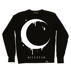 Moon unisex sweatshirt black