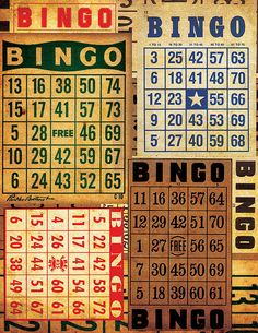 My Mother loved bingo. At the Catholic Church, the Jewish Temple, the Ventura County Fairgrounds, anywhere! Scrapbook Albums, Scrapbook Cards, Pocket Scrapbooking, Scrapbooking Ideas, Bingo Board, Bingo Games, Junk Journal, Journal Ideas, Vintage Crafts
