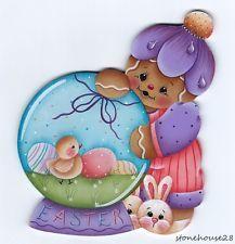 HP GINGERBREAD Easter Globe FRIDGE MAGNET