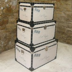 Stackable Storage Trunks and Chests | ... trunks storage view all trunks storage view all trunk trunks storage & stackable storage trunks | Set of 4 Stacking Scripted Sackcloth ...