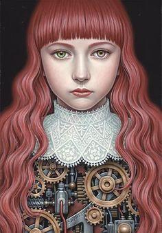 Pinzellades al món: Realisme sensitiu en Shiori Matsumoto Steampunk, Arte Pop, Pop Surrealism, Japanese Artists, Art Studies, Western Art, Surreal Art, Portraits, Fantasy Art