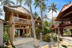 bamboo house-airbnb Tropical Beach Houses, Bamboo House Design, Hut House, Bahay Kubo, Casa Loft, Bamboo Architecture, Beach Cottage Style, Beach Bungalows, Beach Cottages