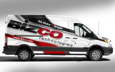 Design #14 by J.Chaushev | IT Technology company Ford Transit Partial Van Wrap