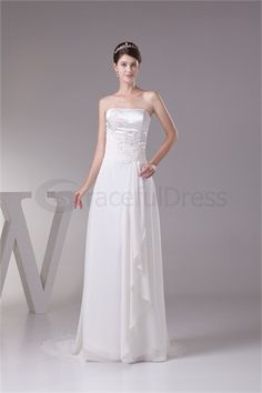 Beautiful Chiffon/Silk-like Satin Strapless Corset-back Appliques Beach/ Destination Wedding Dress http://www.GracefulDress.com/Beautiful-Chiffon-Silk-like-Satin-Strapless-Corset-back-Appliques-Beach-Destination-Wedding-Dress-p20405.html