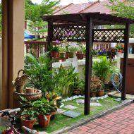 Landskap halaman rumah kampung Lawn And Garden, Home And Garden, Gazebo, Pergola, My House Plans, Raised Garden Beds, Winter Garden, Creative Home, The Great Outdoors