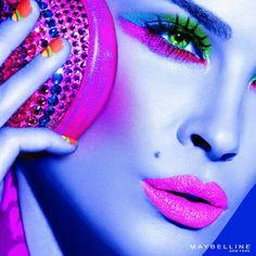 OH SO PRETTY IN HOT PINK Makeup...futuristic :D